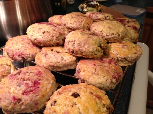 Brian's raspberry chocolate scones